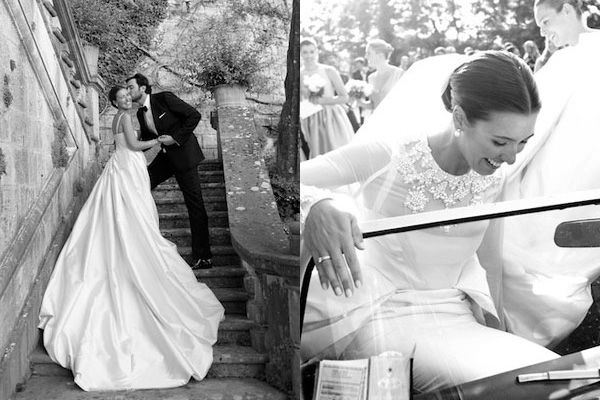 emilia wickstead: custom gown for herself and 10 bridesmaids. absolutely amazing!