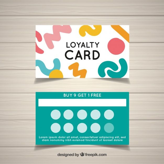 Download Colorful Loyalty Card Template With Abstract Design For Free Loyalty Card Template Gift Card Design Loyalty Card Design