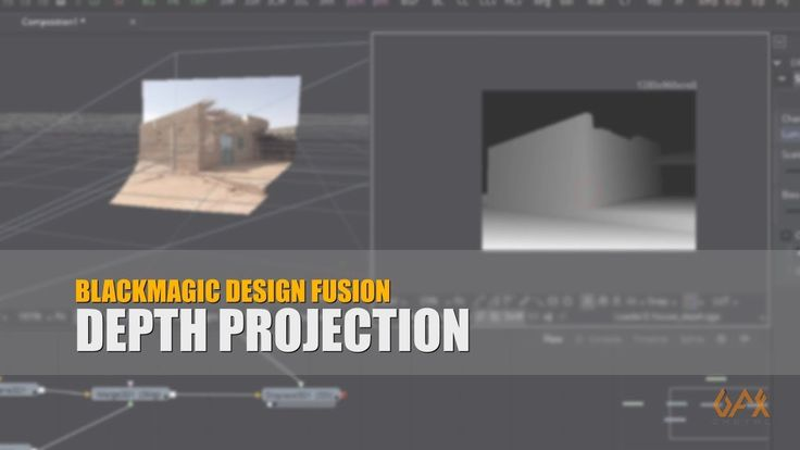 Create 3d Scene from 2d Image using BMD Fusion Depth Projection technique to create depth map using default tools