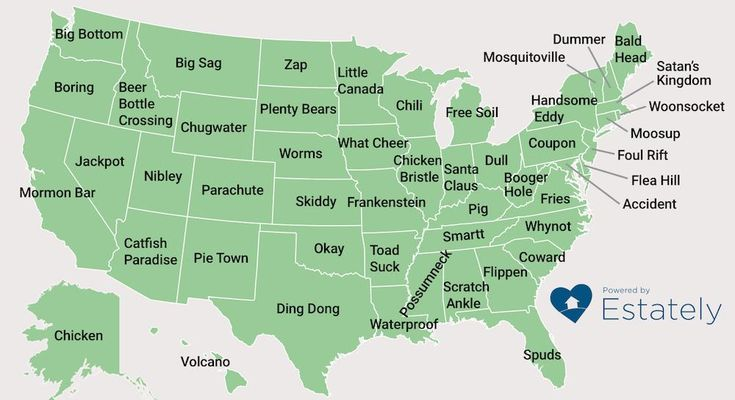 The Weirdest Town Names In America