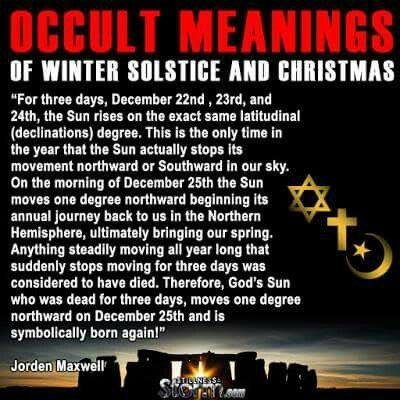 Occult christmas meaning