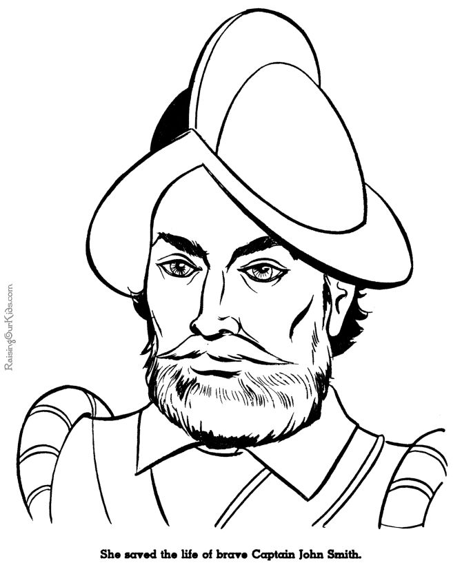 find this pin and more on catholic schoolhouse captain john smith coloring page