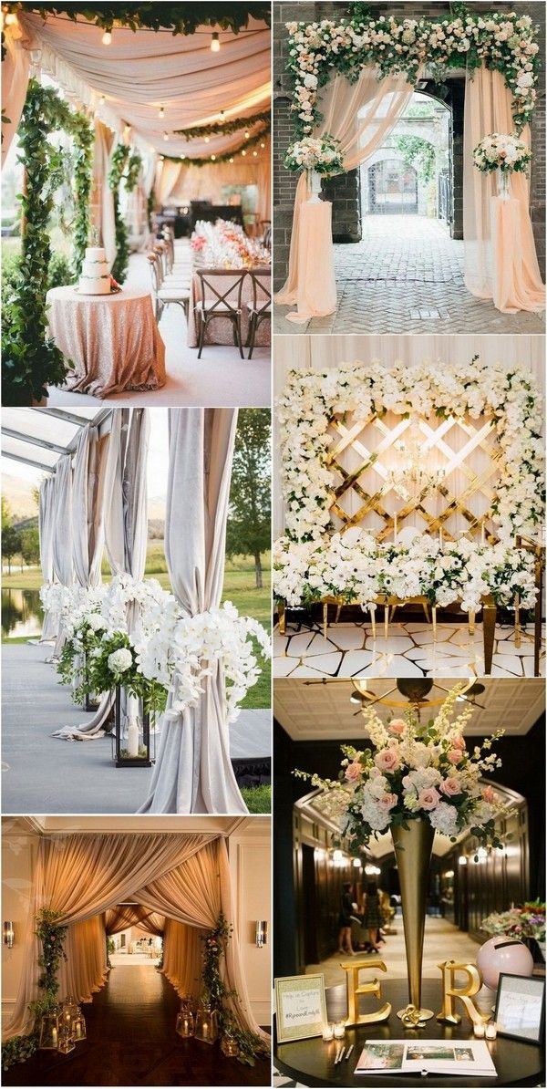 Top 20 Wedding Entrance Decoration Ideas For Your Reception Emmalovesweddings Wedding Entrance Decor Wedding Entrance Table Wedding Entrance