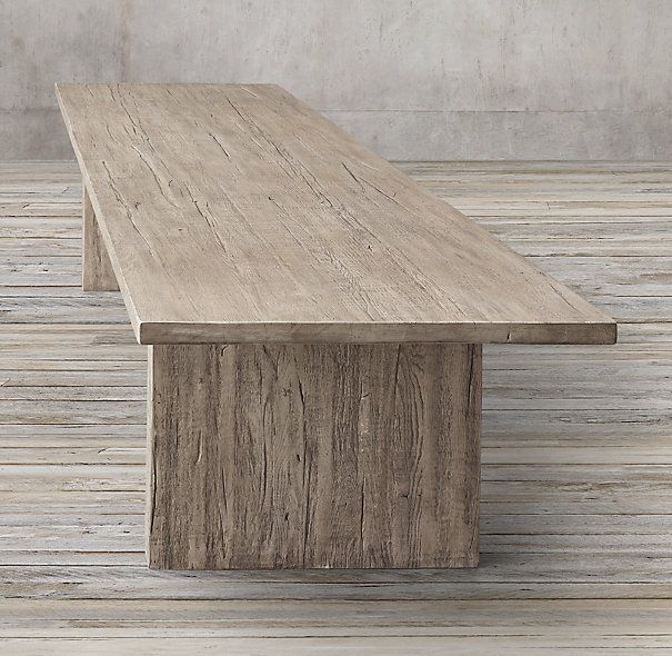 Reclaimed Oak Plank Rectangular Dining Table