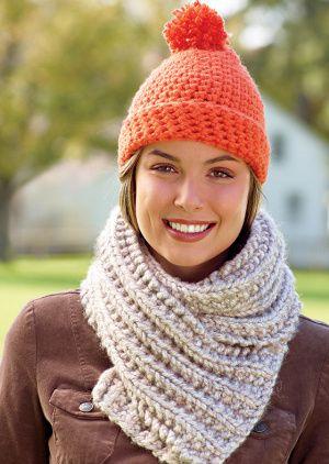 Brisbane Scarf Lion Brand Hometown USA yarn super bulky #6  (scarf only) knit
