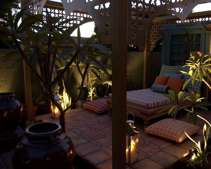 Garden at night #GardenDaybed