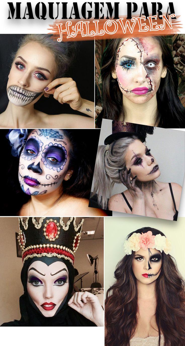Inspirações de Maquiagem para o Halloween                                                                                                                                                     Mais