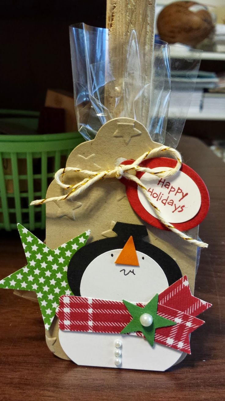 """Eileen's """"Stampin' Fever"""" Blog: Snowman Dove Chocolate Treat Bags"""