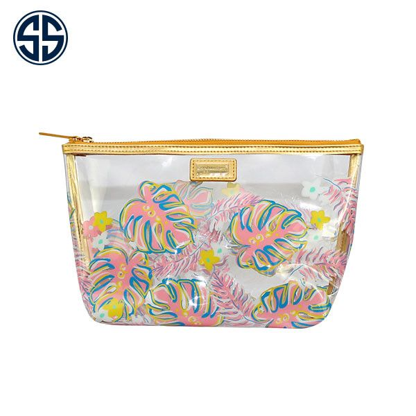 Simply Southern Leaves Print Clear Cosmetic Bag