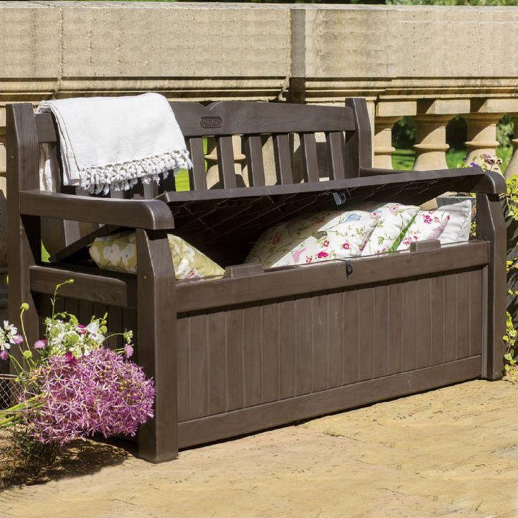 Outdoor Keter 213126 Eden Bench 70 Gallon Deck Box   213126
