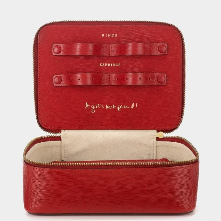 Anya Hindmarch customizable traveling jewelry case | archdigest.com