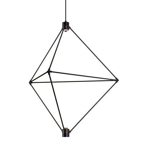 Candora Black 34-Inch LED Chandelier