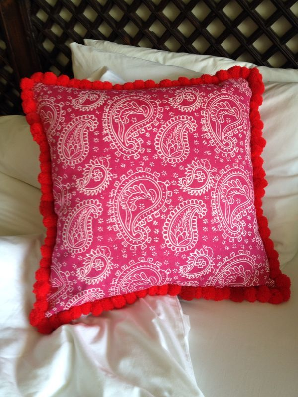 Red Batik Cushion.