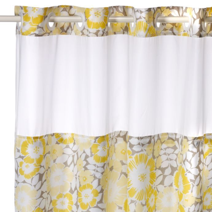 Fan Floral Hookless Shower Curtain Floral Shower Curtains