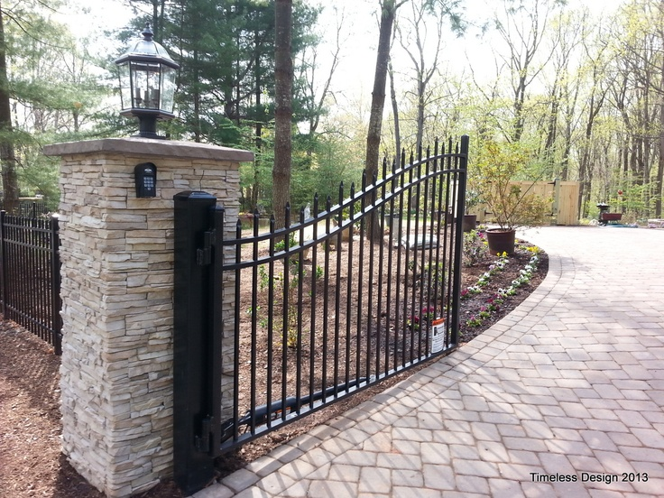Stone Gate Pillars : Best images about stone pillars on pinterest entry