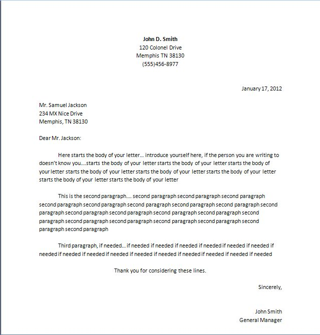 1000+ ιδέες για Business Letter Example στο Pinterest - sample business letter example