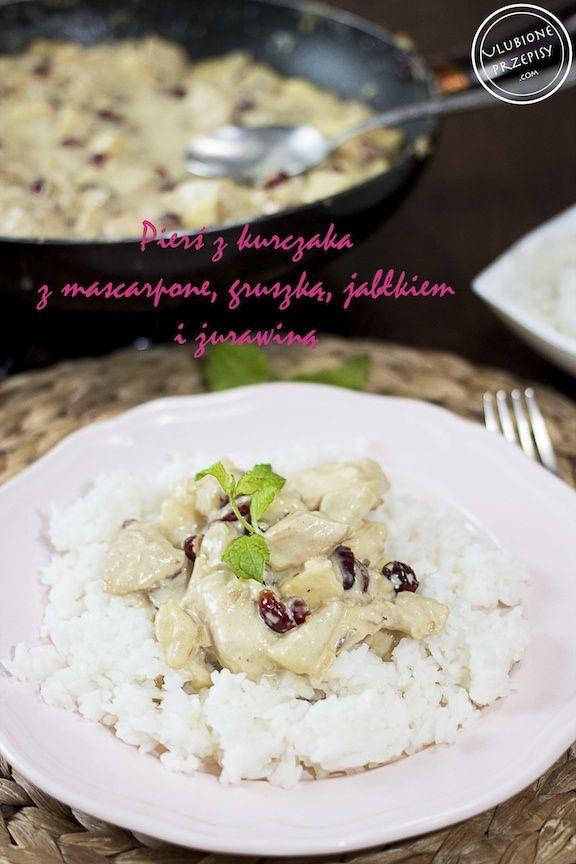 Pierś z kurczaka z mascarpone, gruszką, jabłkiem i żurawiną http://ulubioneprzepisy.com/2014/12/29/piers-kurczaka-mascarpone-gruszka-jablkiem-zurawina