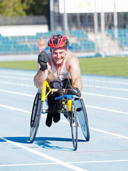 Wheelchair racing training session