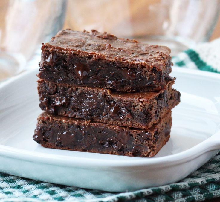Double Chocolate Grain-Free Brownies {100% Flourless}