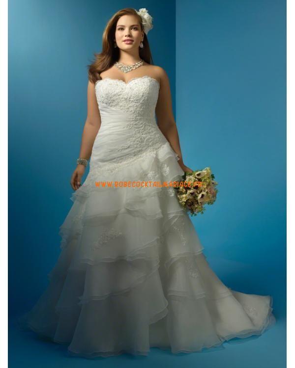 Elegant Alfred Angelo Plus Size Robe de Mari e Style W Plus Size Wedding GownsPlus