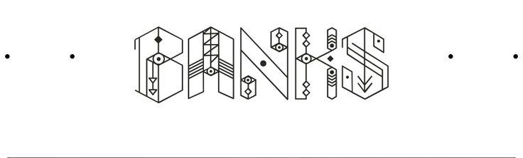 'Banks' Logo/Typeface Design http://www.hernameisbanks.com/