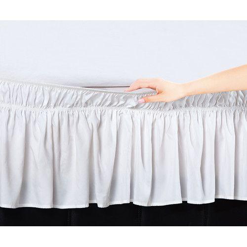 Found it at Wayfair - Easy Wrap Platform Free Dust Ruffle Bed Skirt