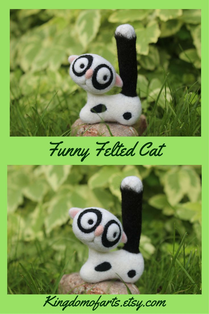 This funny cat is made of 100% high quality merino wool and especially created for improving your mood and making you smile. Wool felt cat is handmade to order by me, using my own original designs – perfect for collectors, pet lovers and will be a wonderful as a funny boyfriend gift! ~ felt cat felted felted animals felted cat toys felted cats felted animals funny cats  funny gifts for boyfriend funny gifts wool cat wool crafts one of a kind