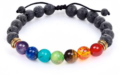 GIFTS WITH PURPOSE!! This beautiful and adjustable 7 Chakra Diffuser Bracelet is available NOW at $10 SAVING!! Drizzle your favorite essential oil over the porous lava beads for 6 hours of BLISS. The perfect gift with a purpose. #gift #ad #aromatherapy #essentialoil