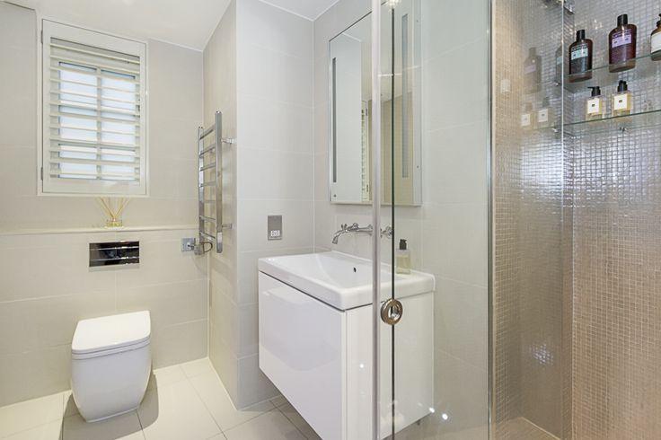 Shower room basement flat London SW1X #cutlerandbond #basementflat #gardenflat #londonproperty