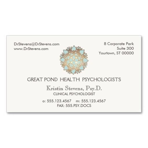 191 best mental health counselor business cards images on pinterest lotus holistic health counselor appointment card colourmoves