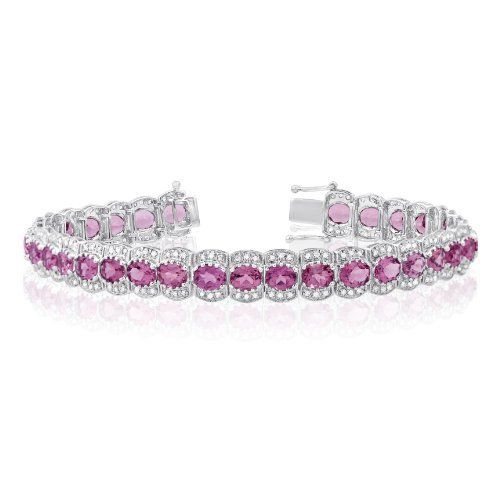 14K White Gold 0.62ct Diamond and Pink Tourmaline Bracelet Jewelry Pot. $1595.00. Items Shipped in Elegant Jewelrypot Gift Box. Free Shipping!. All Genuine Diamonds, Gemstones, and Precious Metals. 100% Satisfaction Guarantee. 30 Day Money Back Guarantee. Save 64% Off!