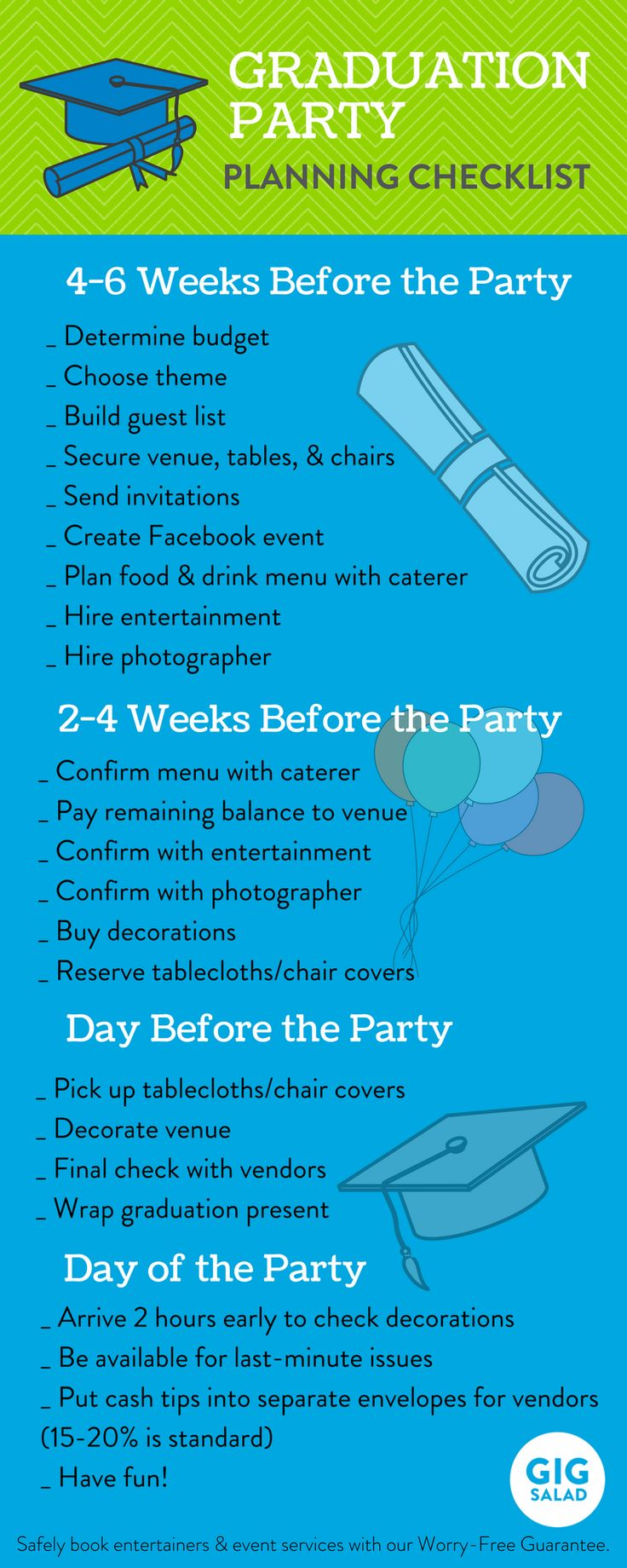 Planning a party for your favorite grad? This graduation party checklist is perfect!
