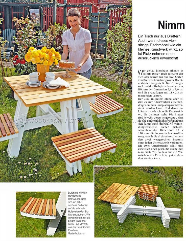 Foldable Picnic Table Plans - Outdoor Furniture Plans