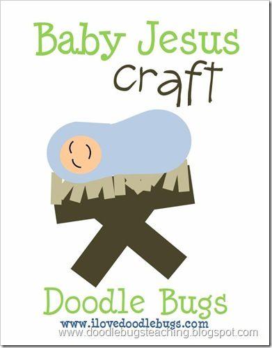 Doodle Bugs Teaching {first grade rocks!}: Happy Birthday Jesus Craft {free download}