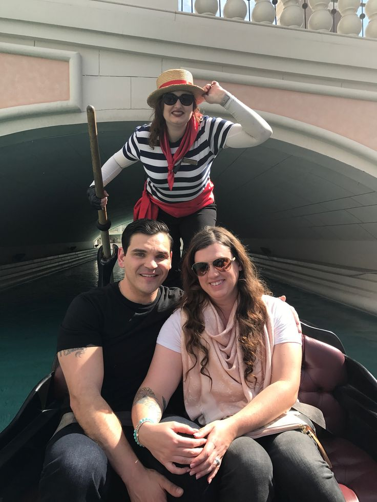 Gondola ride at the Venetian in Vegas. She had such a beautiful voice and sang happy birthday to me in Italian
