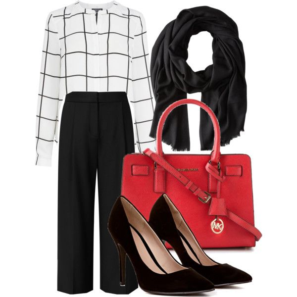 A fashion look from January 2015 featuring Warehouse blouses, Reiss pants and MICHAEL Michael Kors tote bags. Browse and shop related looks.