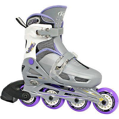 Youth 47345: Roller Derby Girls Cobra Adjustable Inline Skates Adjustable Size 12-1 BUY IT NOW ONLY: $46.99