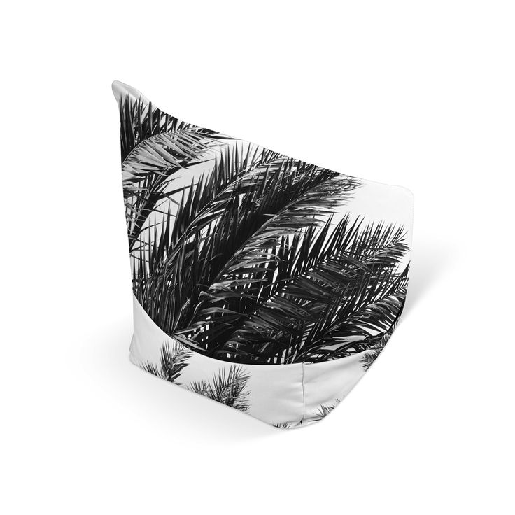 Minimal in color, yet stylish in design, this beach tropical inspired bean bag chair accent features lush ...