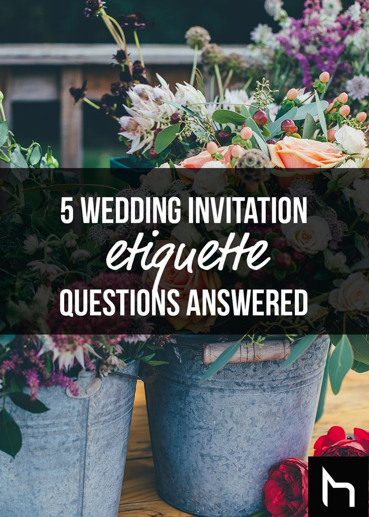 5 wedding invitation etiquette questions answered - Daily Hive
