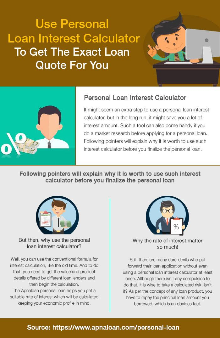 Use Personal Loan Interest Calculator To Get The Exact Loan Quote For You Personal Loans Personal Loans Online Interest Calculator