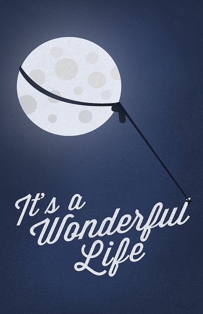 "its a wonderful life George lassos the moon | It's a Wonderful Life"" Poster 