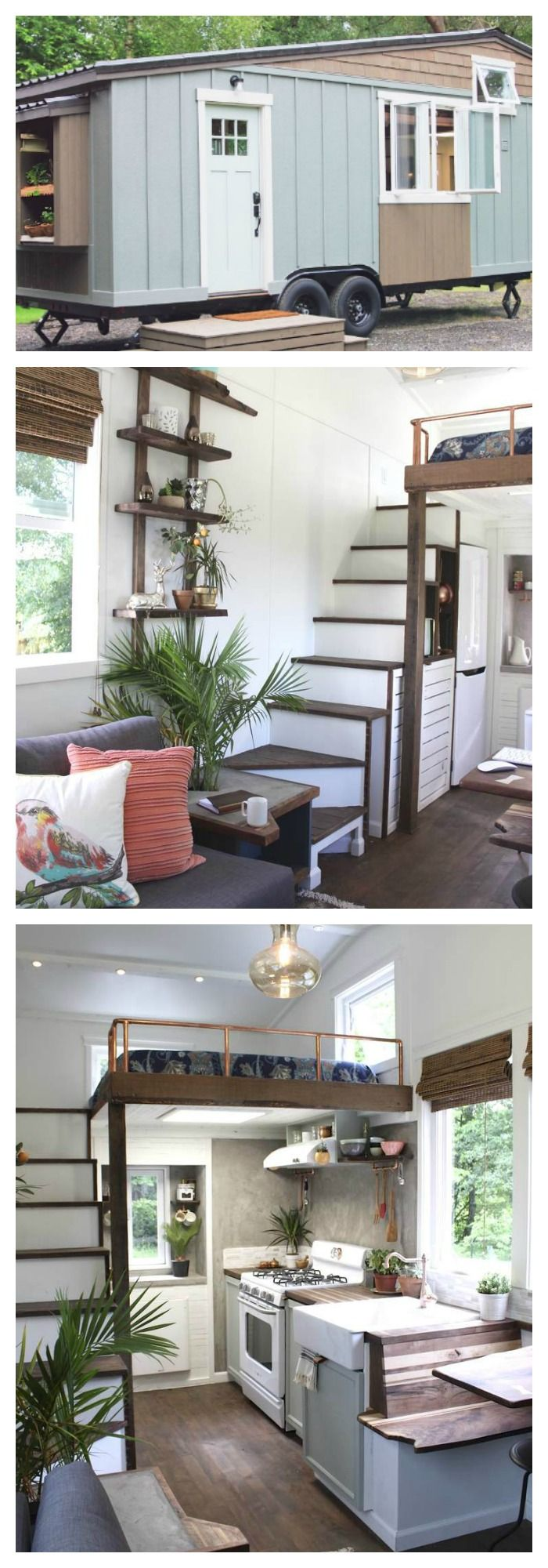 Interior design ideas for very small homes - Peek Inside The Cutest Little 250 Square Foot Mobile Farmhouse The Lofttiny