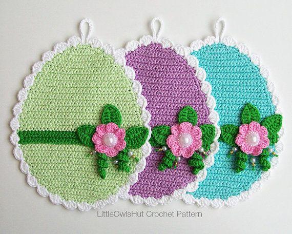 066 crochet Pattern uova arredamento o presina  di LittleOwlsHut