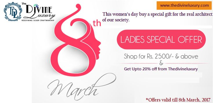 Women's Day Offers - Get Online Deals & Discounts on Women's Day in India at Thedivineluxury