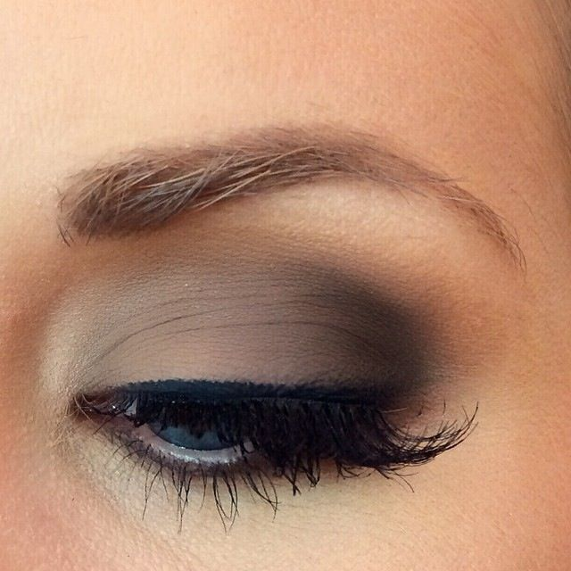 Brown Smokey Eye, Neutral makeup, Blue eyes. Date Night makeup. This is my eye:)