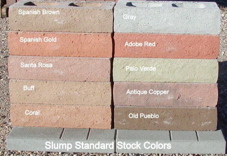 Slump Block Buff Color Backyard In 2019 Brick Stone