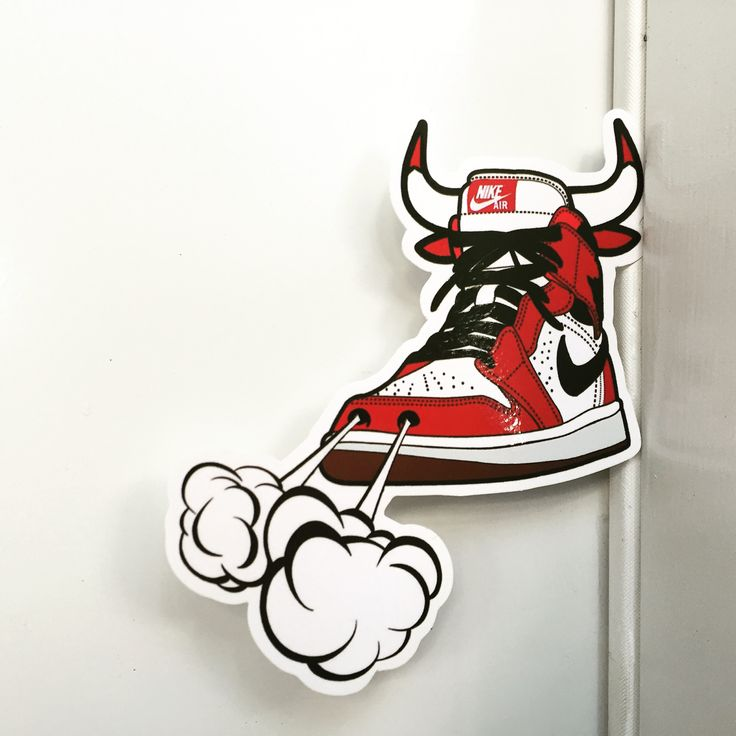 Michael Jordan 1 Sneakers NIKE AIR CHICAGO BULLS , Height 9 cm, decal sticker  visit DecalStar.com Stickers made by pvc materials. They can be applied on car, glass, metal, computer, luggage case, skateboard, instruments, phones, iPad... #carsticker #sticker #decal #decals #decalshop #bookmark #bookmarks #michaeljordan #airjordan #airjordanlogo #airjordantuxedo #michaeljordandunk #dope #dopeart #walldecor