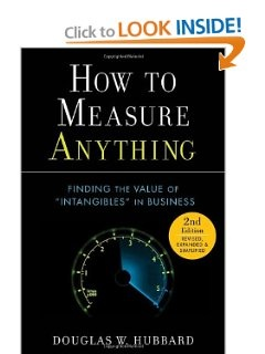 How to Measure Anything: Finding the Value of Intangibles in Business by Douglas W. Hubbard (Author). Anything could be measured. This bold assertion is the important thing to fixing many issues in enterprise and life in general. The parable that sure things cannot be measured is a major drain on our nation's economic system, public welfare, the setting, and even national security.