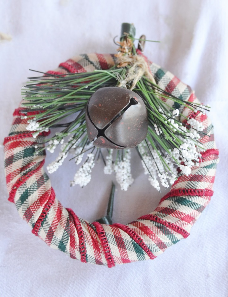 How to make this mini wreath Christmas oranment. There are so many on this blog.