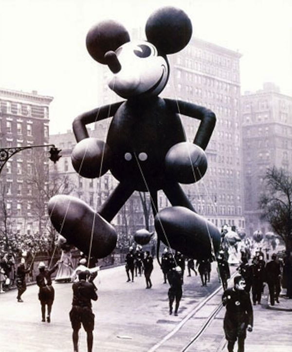 thanksgiving day parade, mickey mouse, 1934